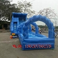 Inflatable pool combination of water slides 5