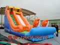 Inflatable pool combination of water slides 6