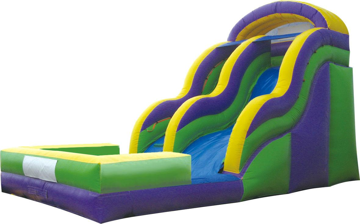 Inflatable pool combination of water slides 8