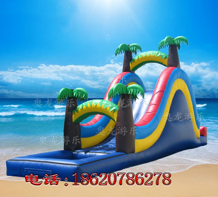 Inflatable pool combination of water slides 9