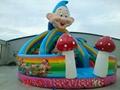 Inflatable three slide castle 3