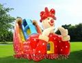 Inflatable three slide castle 4