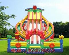 Inflatable three slide c