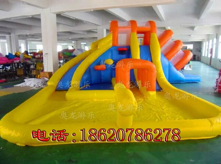 Inflatable ice and ice obstacle slide 2