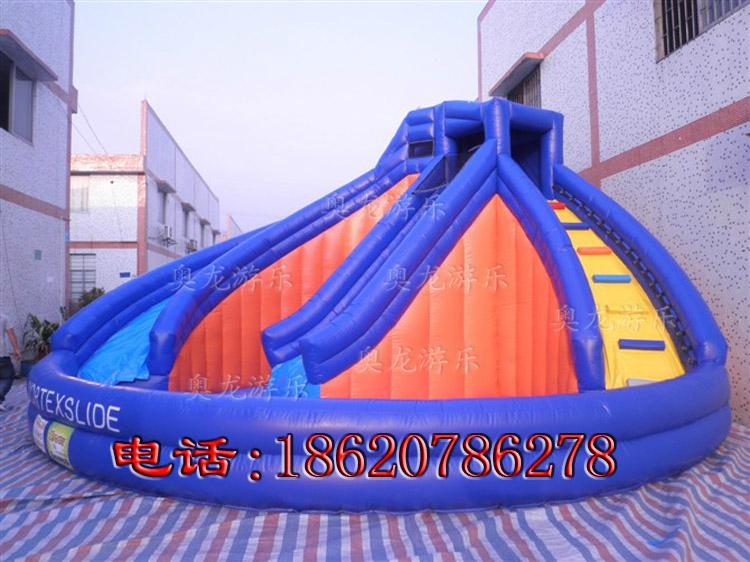 Inflatable ice and ice obstacle slide 5