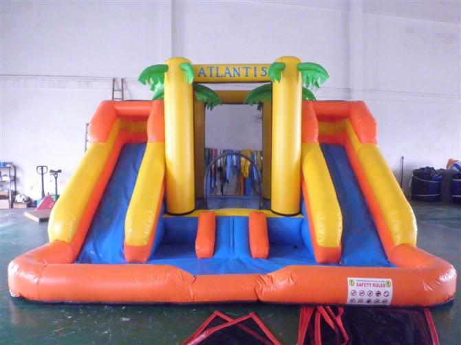 Inflatable ice and ice obstacle slide 6
