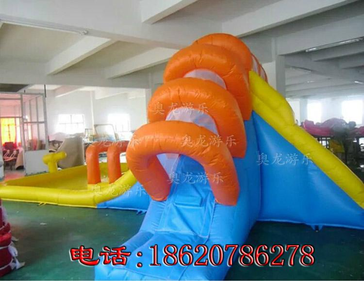Inflatable ice and ice obstacle slide 3