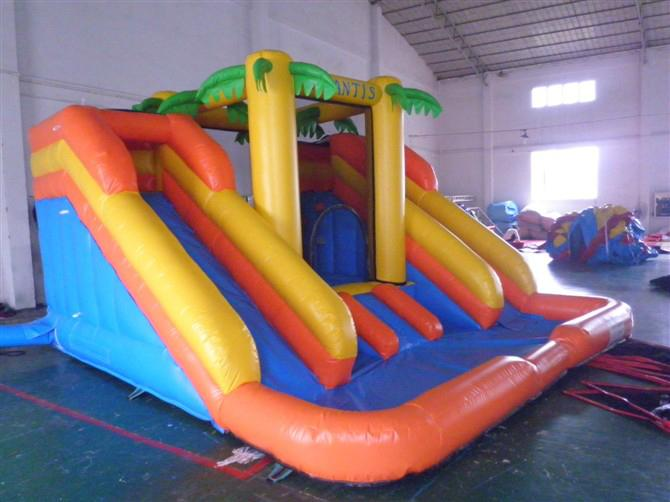 Inflatable ice and ice obstacle slide 7