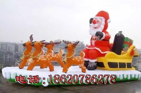 圣诞老人麋鹿拉车