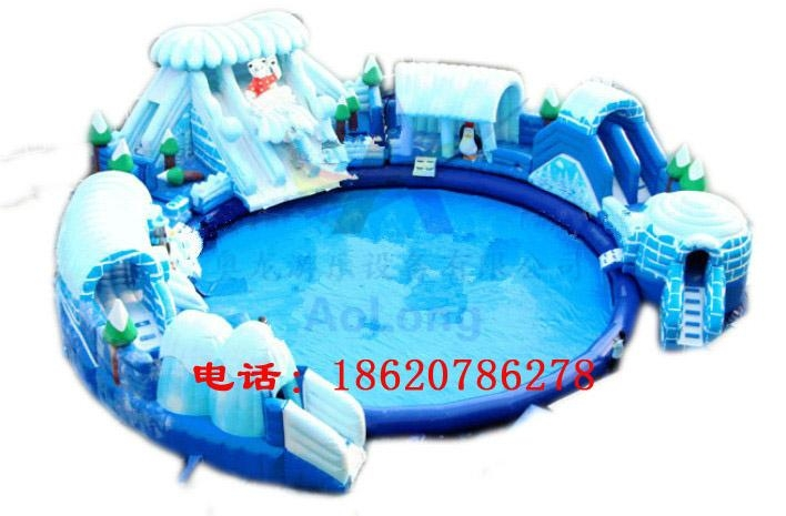 充气冰雪世界水滑梯