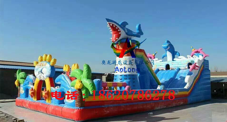 Inflatable slide octopus castle 5