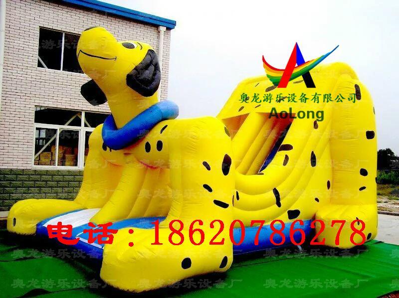 Inflatable dalmatians slides 2