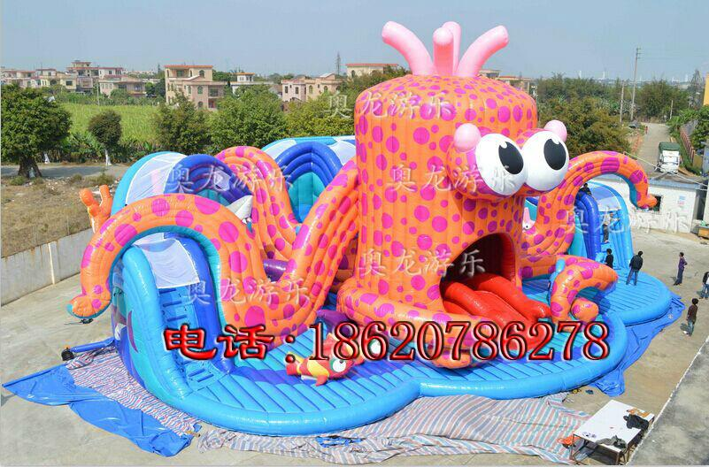 Combination of inflatable lobster slides (water park) 3