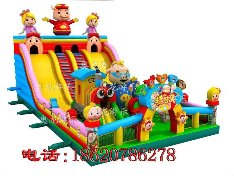 Inflatable pigpigman castle, inflatable sea castle in the world  6