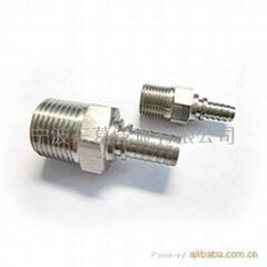 供应不同型号的不锈钢软管接头零部件
