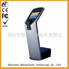 Touch screen payment LED