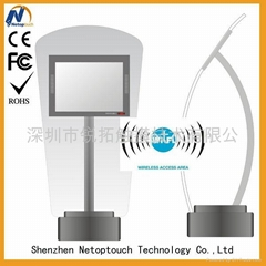 Touch panel kiosk with LED monitor