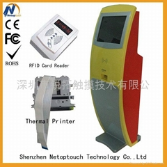 internet kiosk with card reader and thermal printer