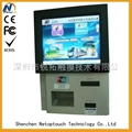 Wall mounted touch screen self service kiosk