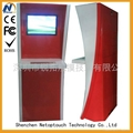Semi-outdoor design touch screen kiosk with keyboard