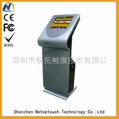 free standing kiosk touch