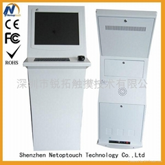 Touch self-service kiosk