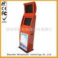 Dual screen touch screen information kiosk