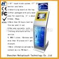 Free standing double screen kiosk