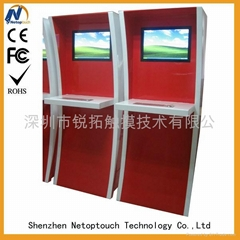 touch screen check in kiosk with keyboard