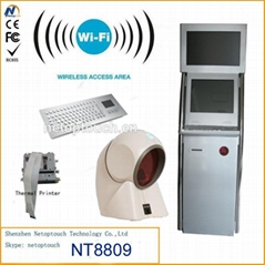 Dual monitor payment kiosk