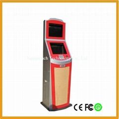 Dual kiosk with card rea
