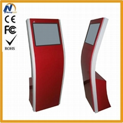 Touch screen free standing mall kiosk