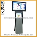 Dual screen touch advertising kiosk player
