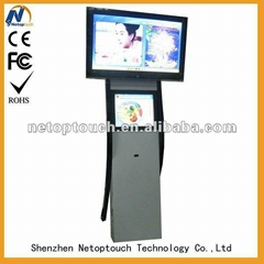 Dual screen touch advertising player