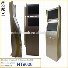 Netoptouch advertising dual monitor touchscreen kiosk