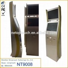 Netoptouch dual monitor touchscreen kiosk display