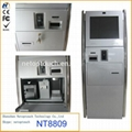 NT8809 touch kiosk terminal with card reader