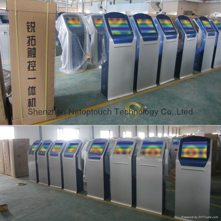 Self service ticketing print touch kiosk with card reader  15