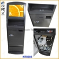 Payment terminal kiosk with card reader