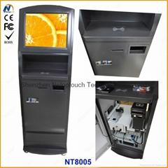 Payment terminal kiosk w
