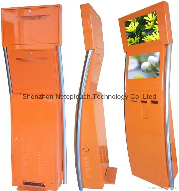 Dual screen payment kiosk