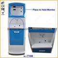 Internet metal kiosk with touch screen