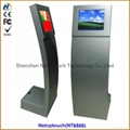 Cold roll steel touch screen kiosk