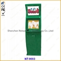 Information interactive touch screen kiosk with 2 monitors