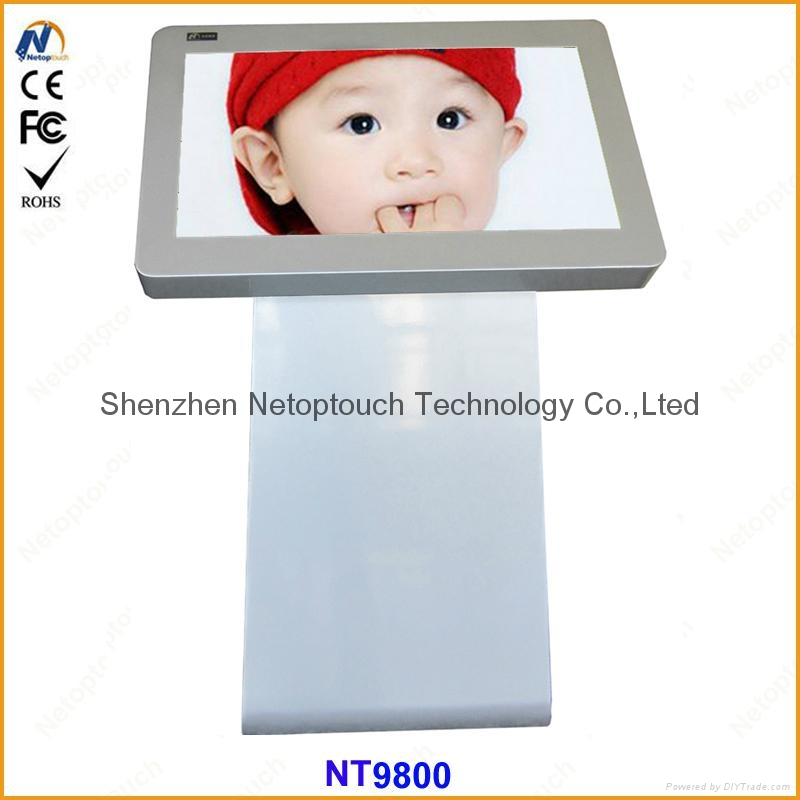 "42"" touch screen advertising kiosk LCD"