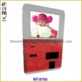 touch screen wall information kiosk with
