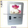touch screen wall information kiosk with keyboard