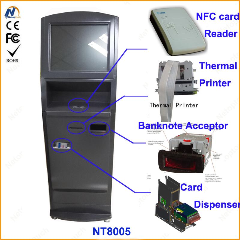 Self service ticketing print touch kiosk with card reader  12