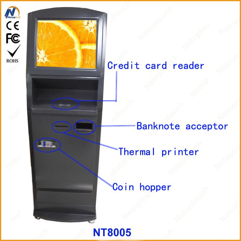 Self service ticketing print touch kiosk with card reader  11