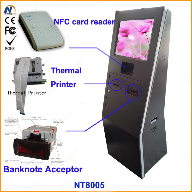 Self service ticketing print touch kiosk with card reader  8